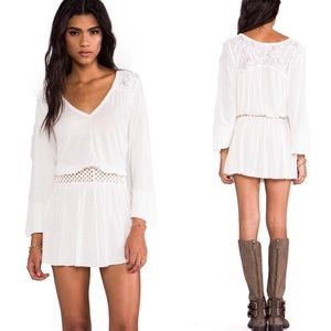 Free People Moonlight Romantic ivory lace tunic